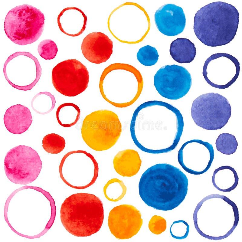 Vectorpatroon met waterverfbellen voor ontwerp royalty-vrije illustratie