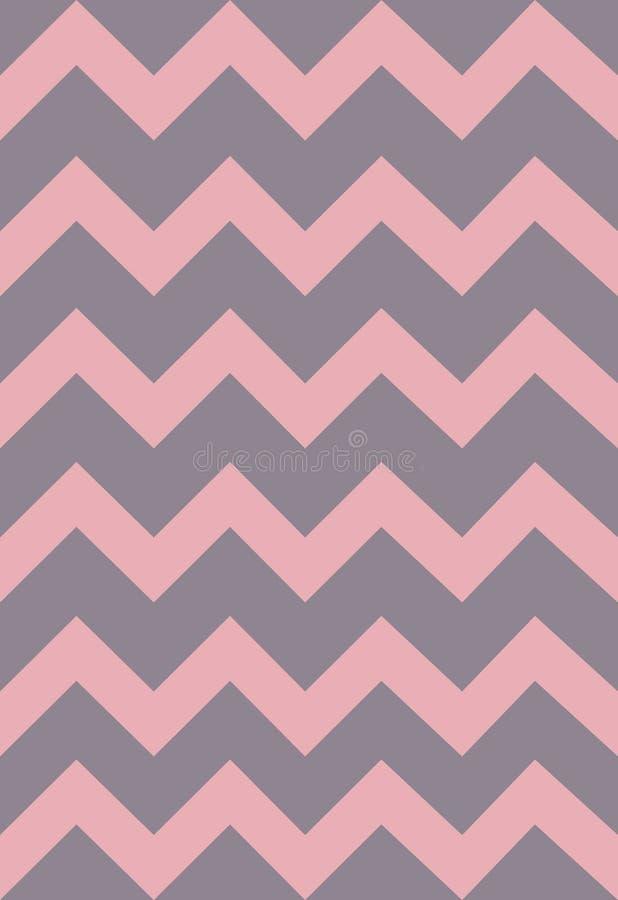 Vectorpatrooninzameling met roze en grijze strepen, zigzag Document, textuur, achtergrond royalty-vrije illustratie