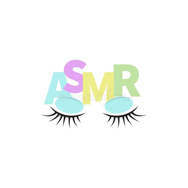 Vectorpictogram ASMR royalty-vrije illustratie