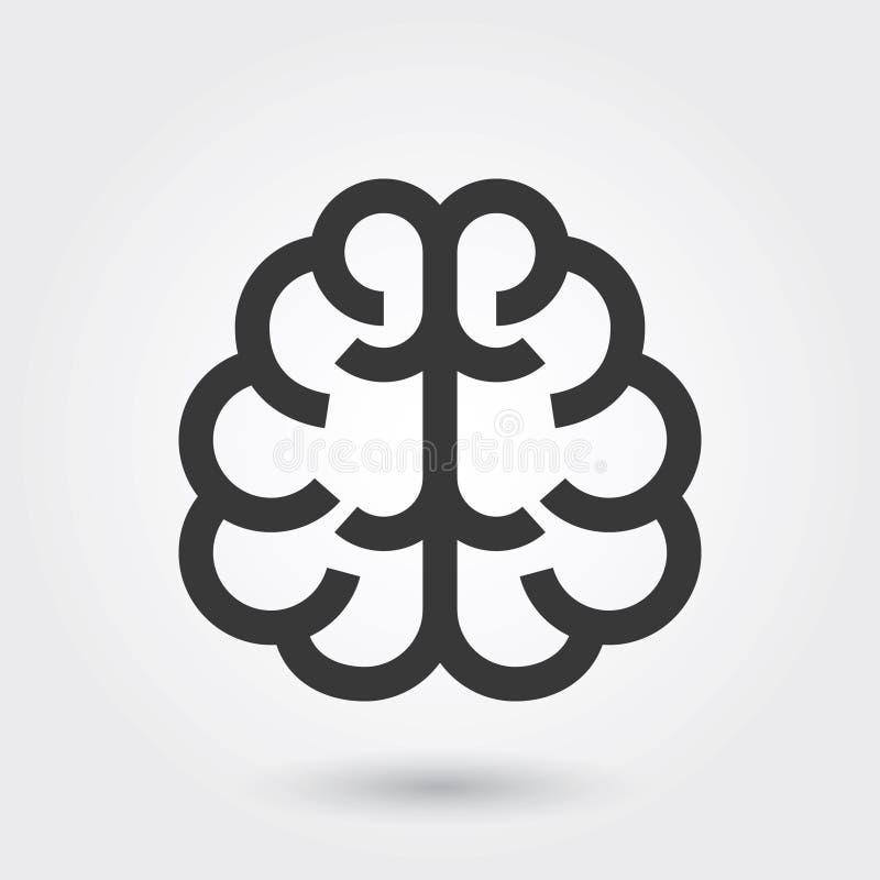 Vectorpictogram, Brain Medical Icon Line Style voor om het even welke doeleinden stock illustratie