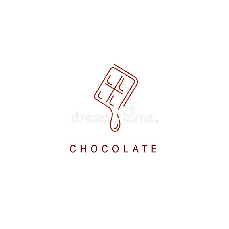 Vectorpictogram en embleem voor chocolade en snoepje royalty-vrije illustratie