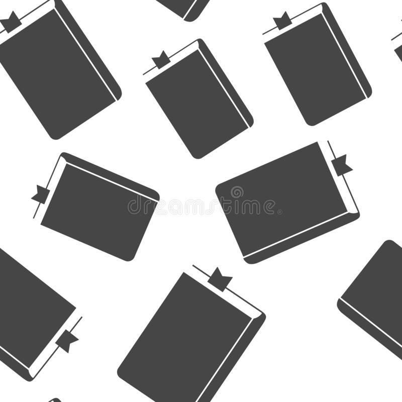 Vectorpictogram gesloten boek met referentie Blocnote met een referentie naadloos patroon op een witte achtergrond Lagen voor gem vector illustratie