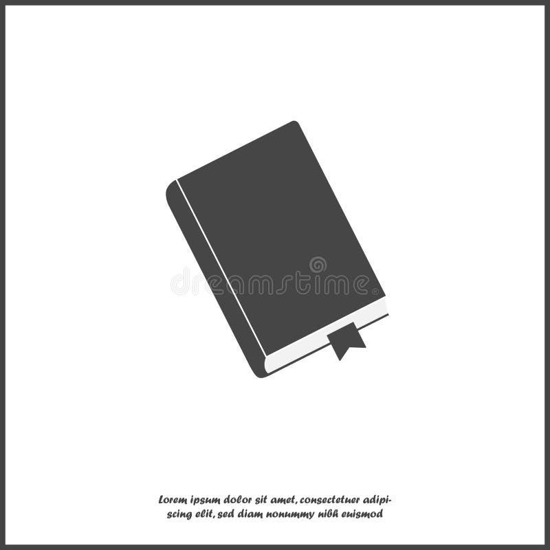 Vectorpictogram gesloten boek met referentie Blocnote met een referentiepictogram op wit geïsoleerde achtergrond royalty-vrije illustratie
