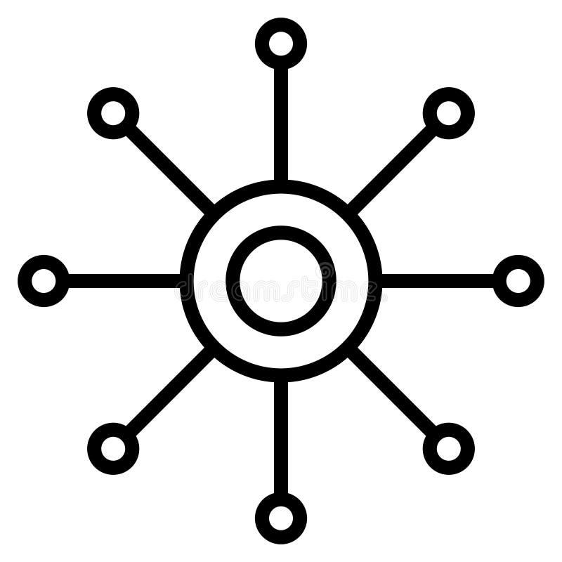 Vectorpictogram met meerdere kanalen Multitasking illustratiepictogram Omnichannel vectorsymbool royalty-vrije illustratie