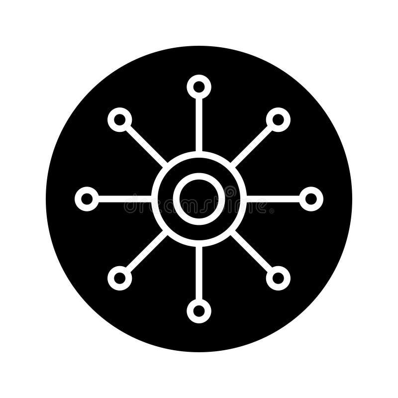 Vectorpictogram met meerdere kanalen Multitasking illustratiepictogram Omnichannel vectorsymbool stock illustratie