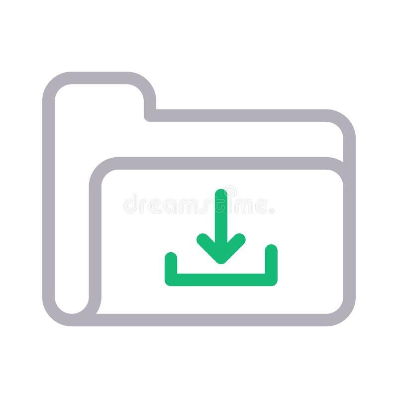 Vectorpictogram van de download het dunne rassenbarri?re stock illustratie
