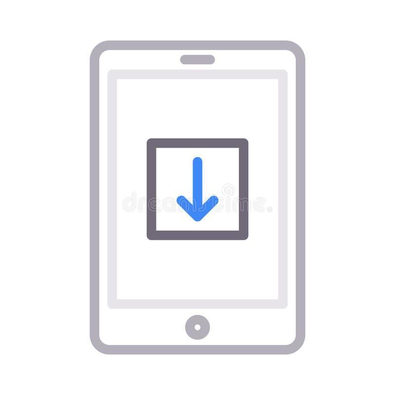 Vectorpictogram van de download het mobiele dunne rassenbarrière royalty-vrije illustratie