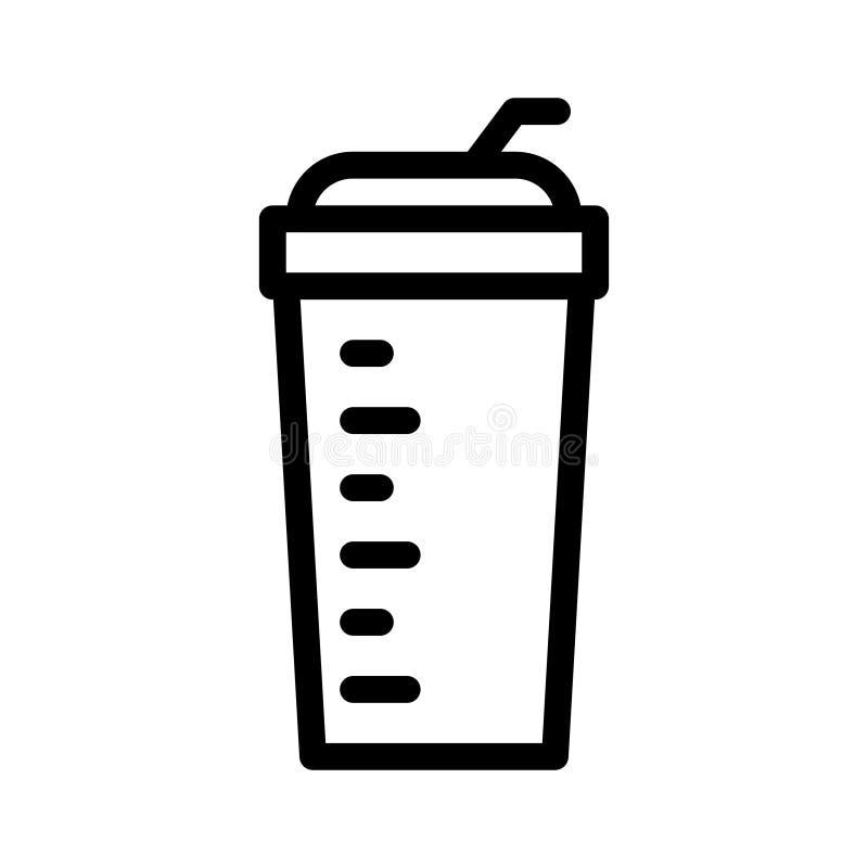 Vectorpictogram van de drank het dunne lijn vector illustratie