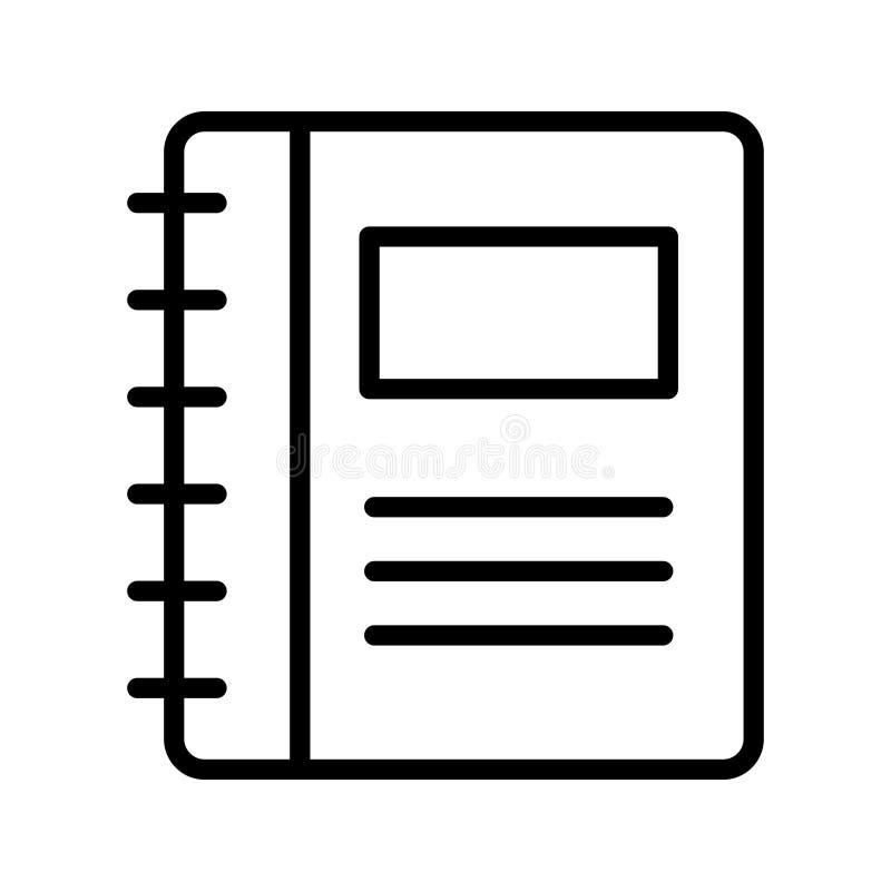 Vectorpictogram van de folder het dunne lijn stock illustratie
