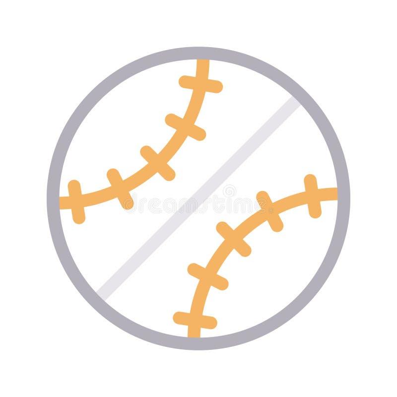 Vectorpictogram van de honkbal het dunne rassenbarrière stock illustratie