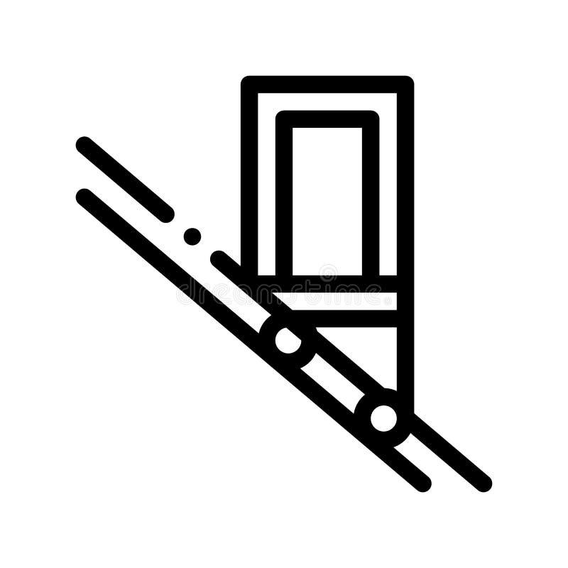Vectorpictogram van de openbaar Vervoer het Geneigde Lift vector illustratie