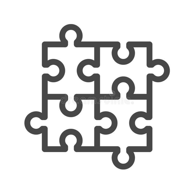 Vectorpictogram van de raadsel het Dunne Lijn vector illustratie