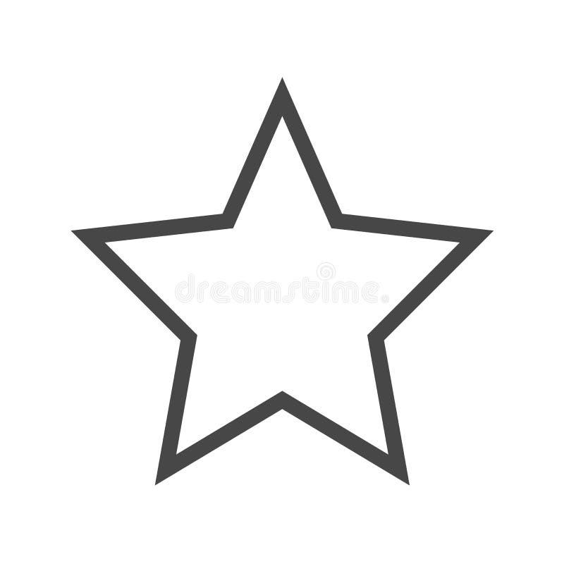 Vectorpictogram van de ster het Dunne Lijn vector illustratie