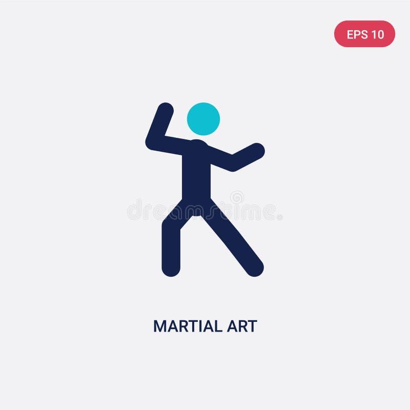 vectorpictogram van de twee kleuren het krijgskunst van activiteitenconcept het ge?soleerde blauwe krijgssymbool van het kunst ve royalty-vrije illustratie