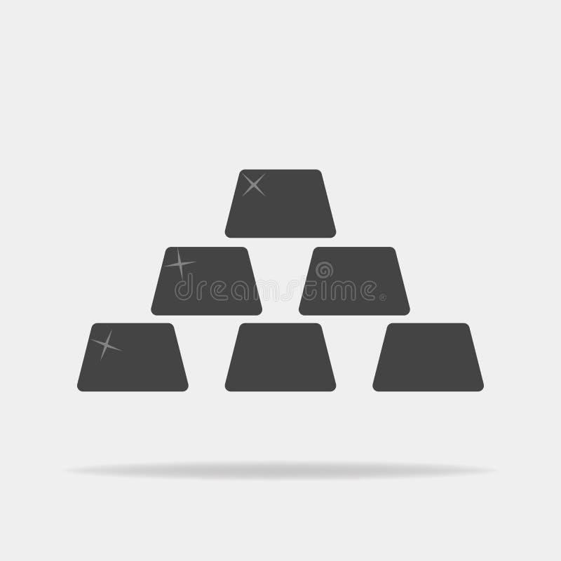 Vectorpictogram van gouden passement vector illustratie