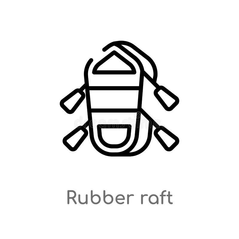 vectorpictogram van het overzichts het rubbervlot r Editable vectorslag vector illustratie