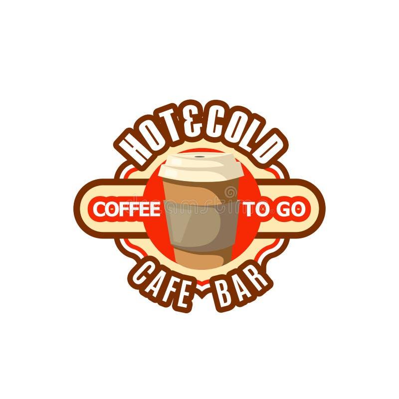 Vectorpictogram van het snelle voedseldranken van de koffiekop om te gaan stock illustratie