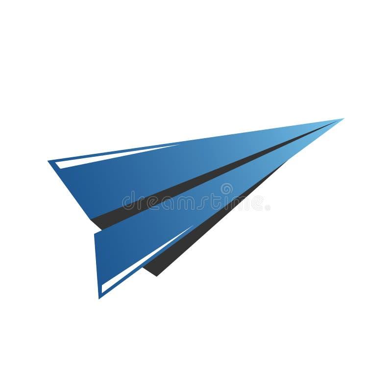 Vectorpictogram van vliegtuig, vleugel in negatieve ruimte Reis, extreme luchtsporten, hemelduik, malplaatje van het hand het gli stock illustratie