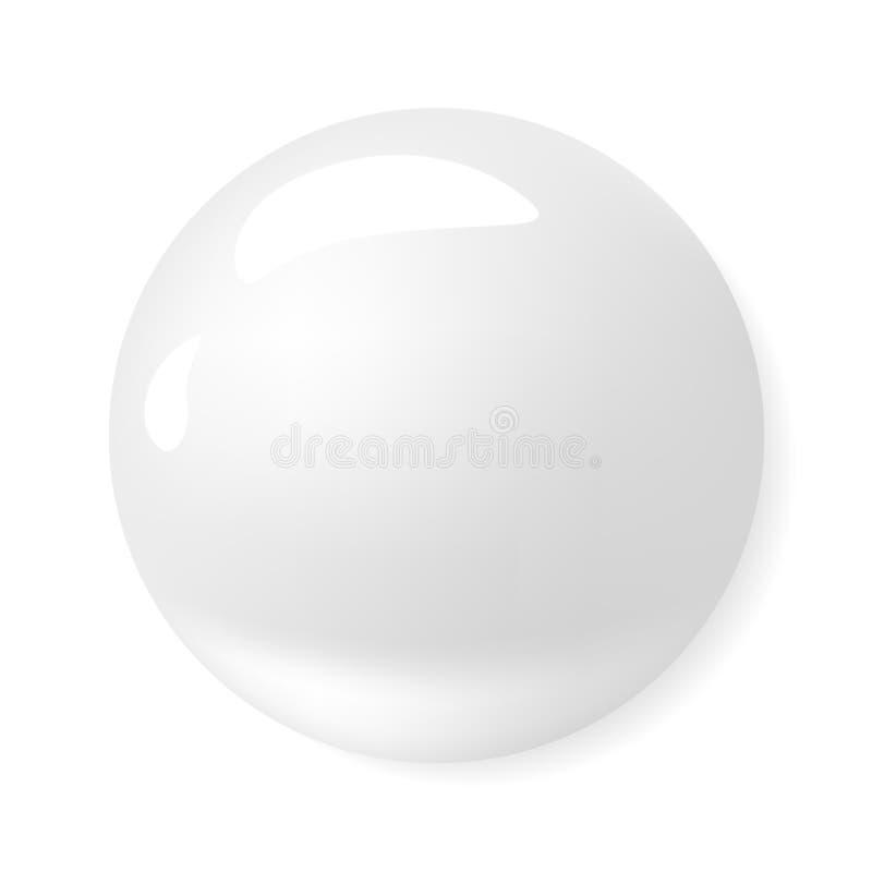 Vectorpictogram Witte vochtinbrengende crème en van de de Roommousse van het collageenschuim de Zeeplotion royalty-vrije illustratie