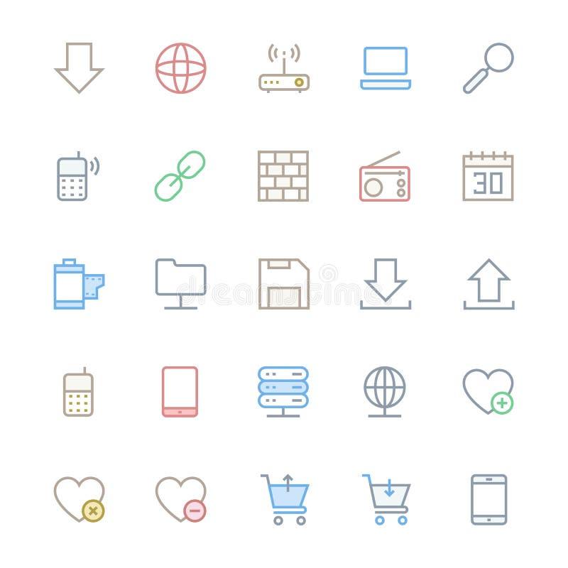 Vectorpictogrammen 14 van de gebruikersinterfaceLijn stock illustratie