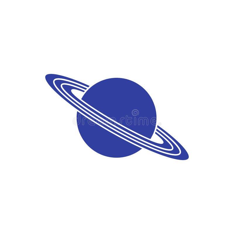 Vectorpictogramplaneet Saturn met ringen astronomie vector illustratie