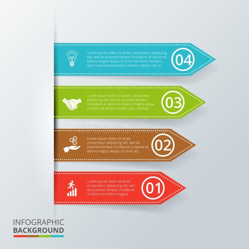 Vectorpijlen voor infographic royalty-vrije illustratie