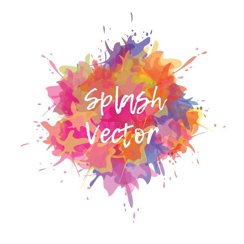 Vectorplonsenachtergrond Gele, purpere, roze en lilac kleuren stock illustratie