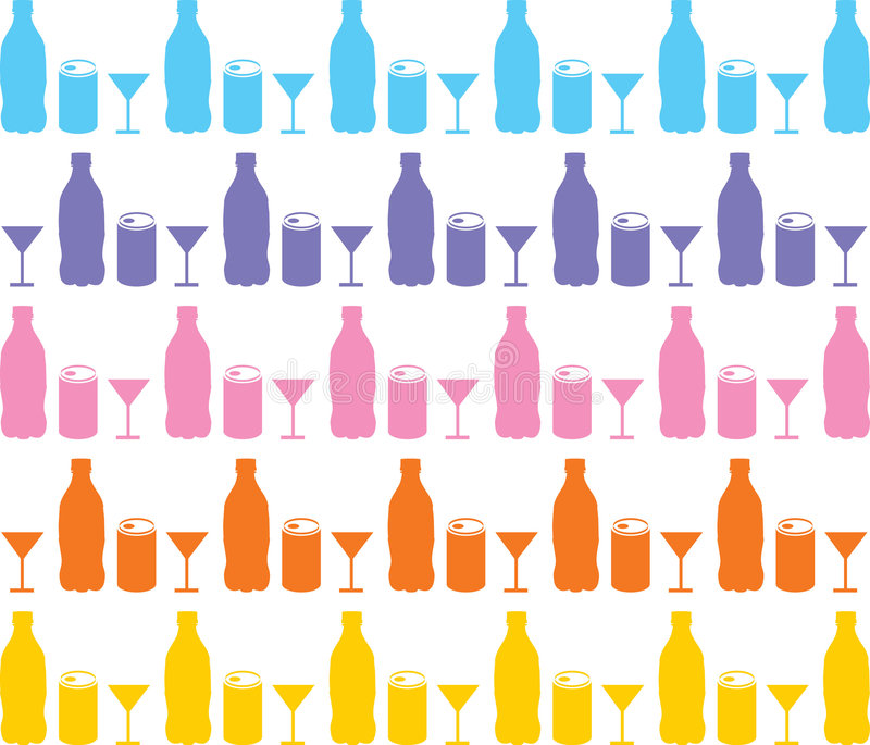VectorRecycle. Recycle is colorful trash. it is bottle, glass, metal box vector illustration
