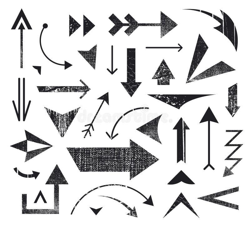 Vectorreeks diverse pijlenpictogrammen, emblemen vector illustratie
