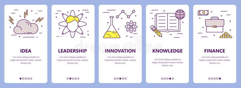 Vectorreeks dunne banners van het de ondernemersconcept van het lijn vlakke ontwerp vector illustratie