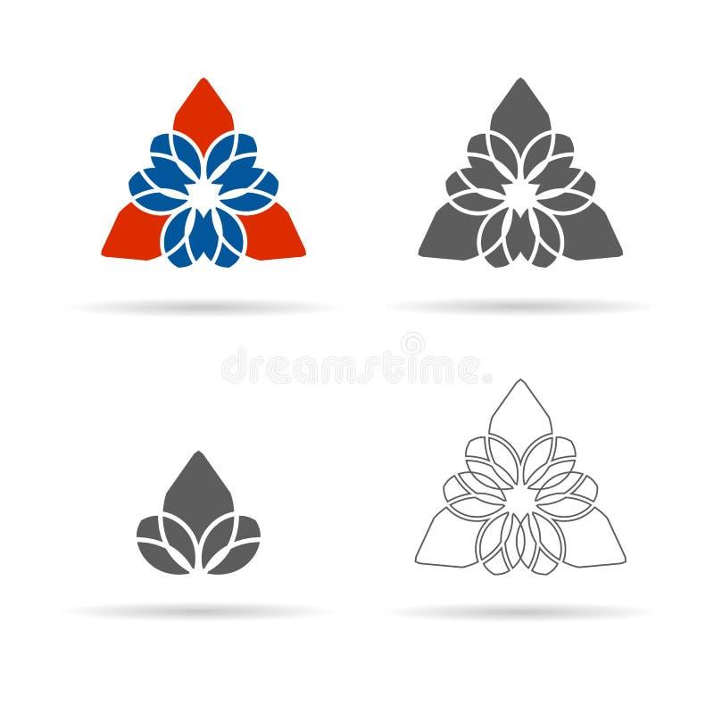 Vectorreeks geometrische cijfers, ornament, lineair pictogram royalty-vrije illustratie