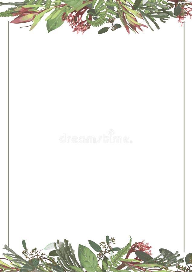 Vectorreeks huwelijksuitnodigingen Op een witte grijze achtergrond met gouden lijnen, strepen, gidsen In een decoratief verticaal royalty-vrije illustratie