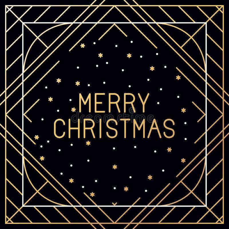 Vectorreeks kaarten van de Kerstmisgroet stock illustratie