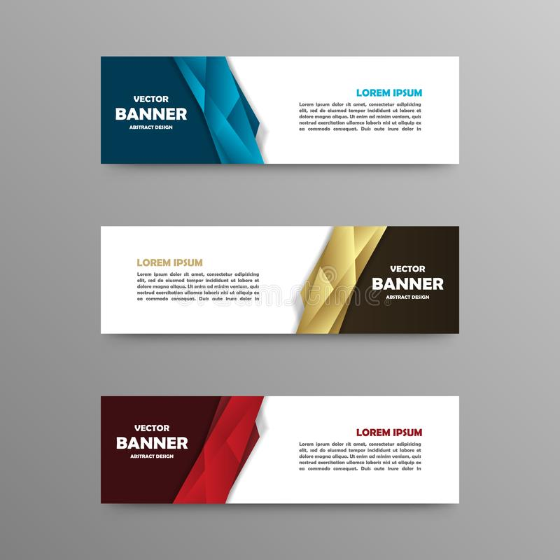 Vectorreeks kleurenbanners, abstract ontwerp royalty-vrije stock afbeeldingen
