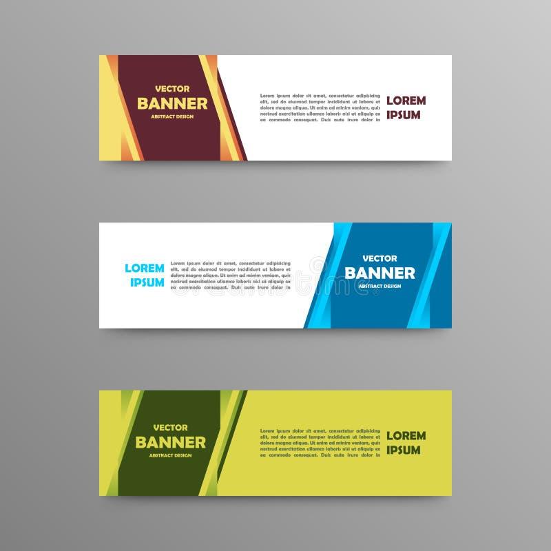Vectorreeks kleurenbanners, abstract ontwerp stock afbeelding