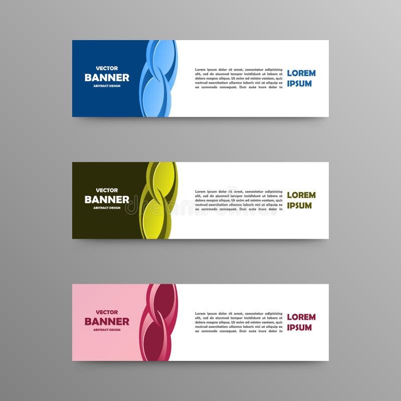 Vectorreeks kleurenbanners, abstract ontwerp stock afbeeldingen