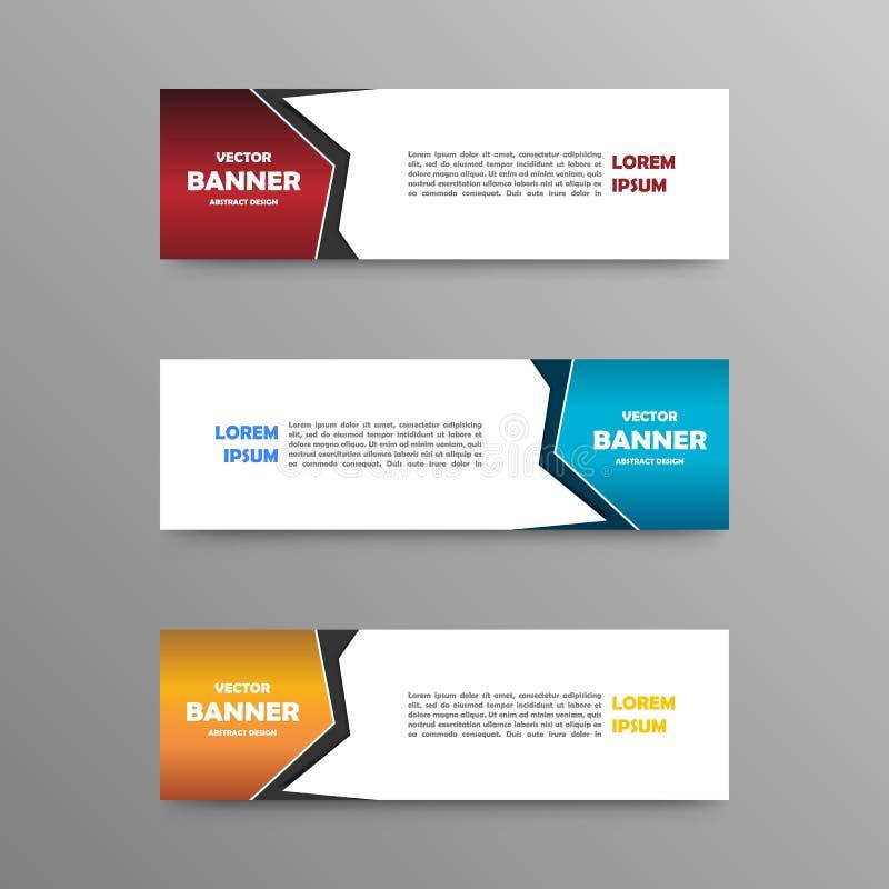 Vectorreeks kleurenbanners, abstract ontwerp royalty-vrije stock foto's