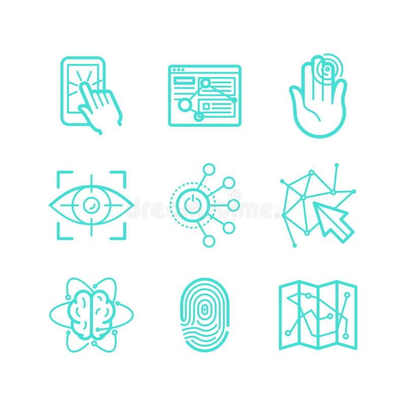 Vectorreeks pictogrammen in in lineaire stijl vector illustratie