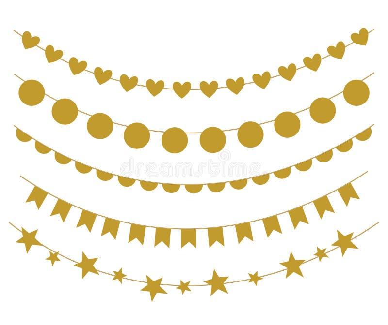 Vectorreeks slingers - eps 10 royalty-vrije illustratie
