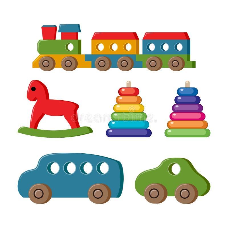 Vectorreeks speelgoed voor jonge geitjes stock illustratie