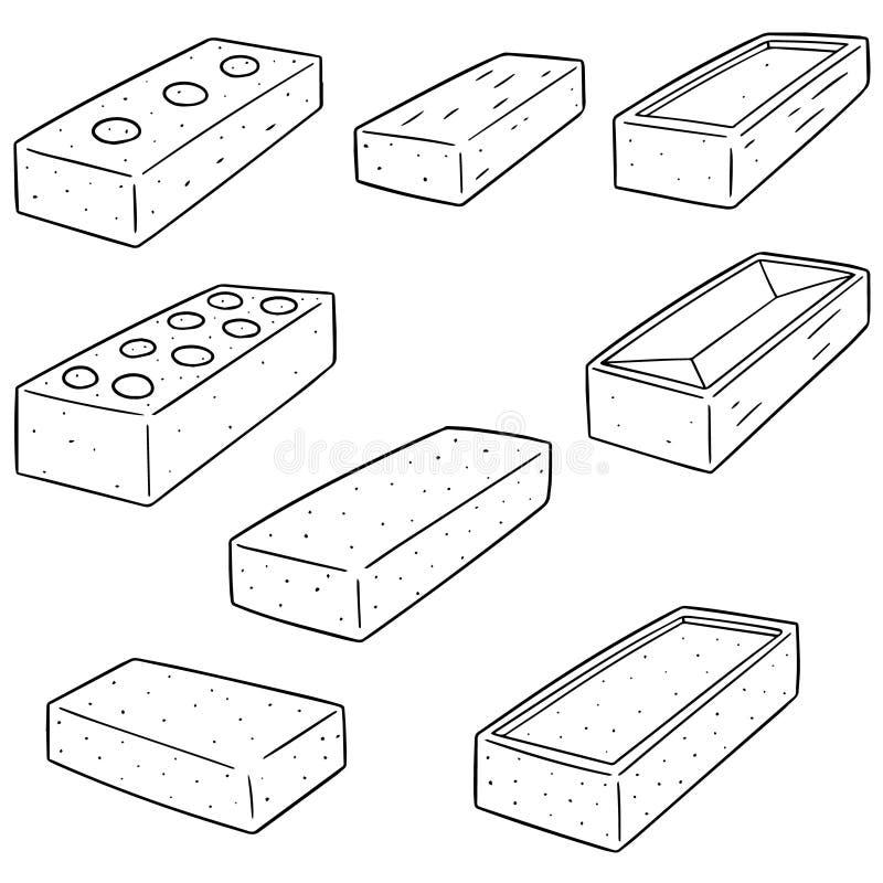 Vectorreeks van baksteen royalty-vrije illustratie