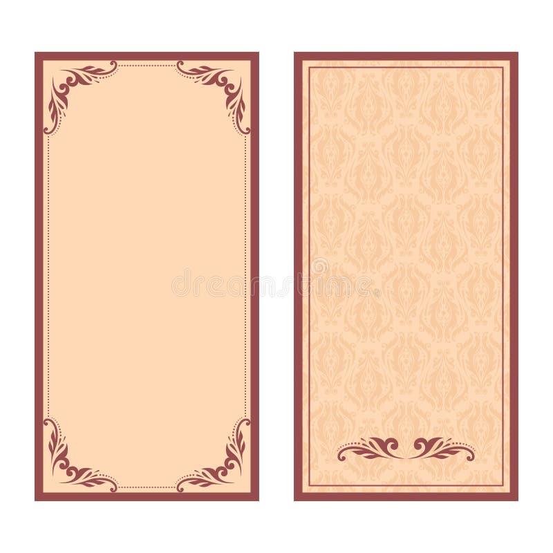 Vectorreeks van bloemen decoratieve achtergrond royalty-vrije illustratie