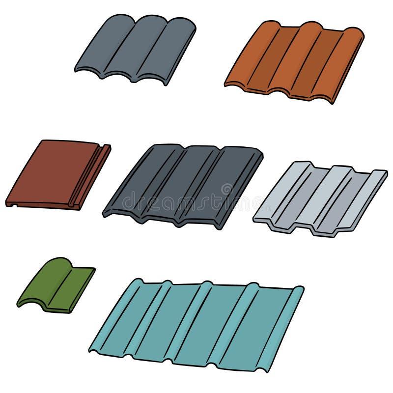 Vectorreeks van daktegel vector illustratie