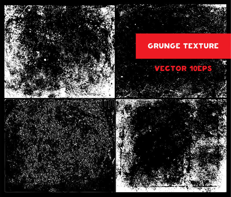 Vectorreeks van de Textuur van Schetsgrunge royalty-vrije stock foto's