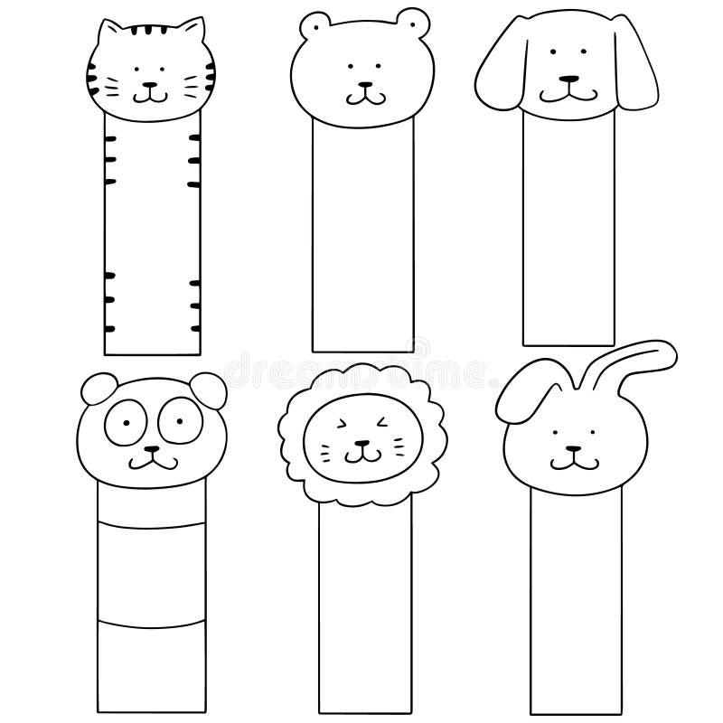 Vectorreeks van dierlijke referentie royalty-vrije illustratie