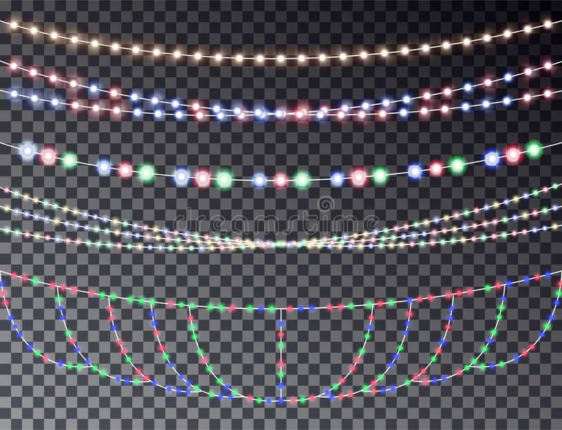 Vectorreeks van het overlappen vector illustratie