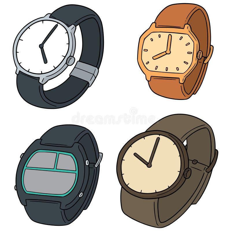 Vectorreeks van horloge royalty-vrije illustratie