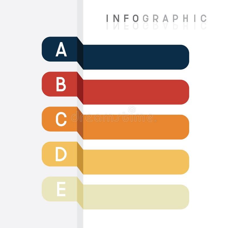 Vectorreeks van informatie grafisch ontwerp, diagram voor presentatiemalplaatje stock illustratie