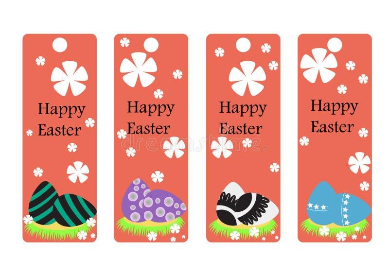 Vectorreeks van Pasen-referentie Gelukkige Pasen eiereninzameling stock illustratie