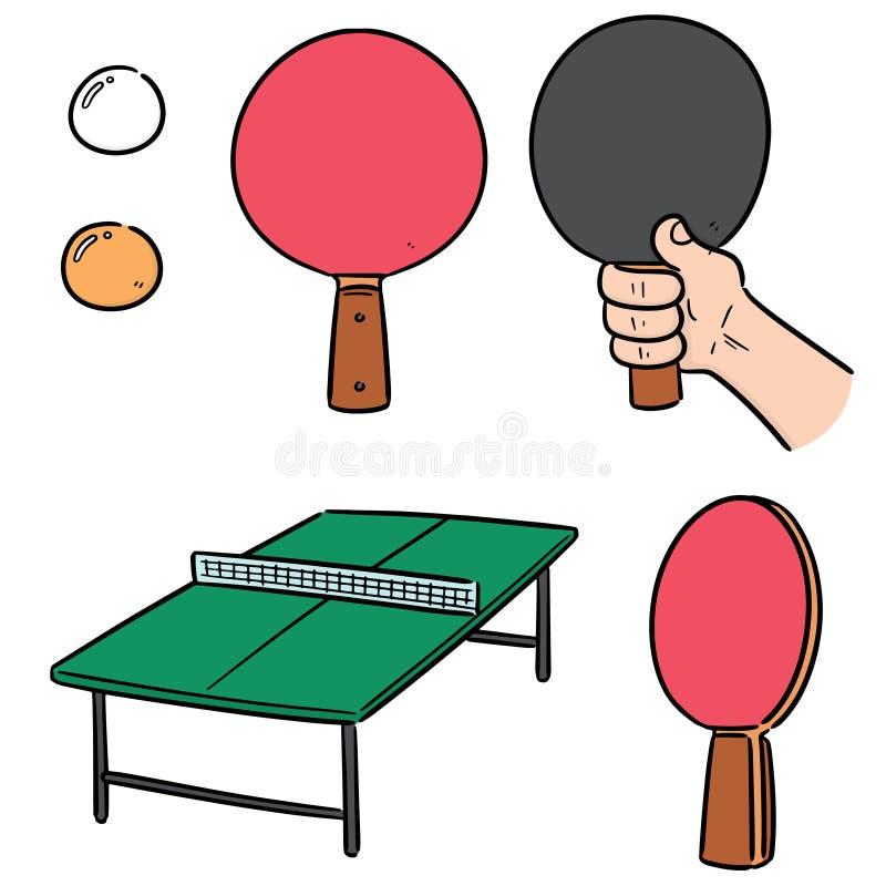 Vectorreeks van pingpong stock illustratie